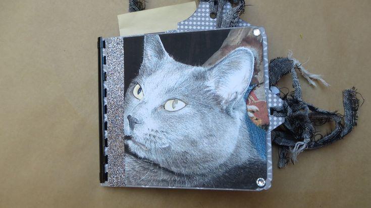 Cat themed Paper Bag Handmade Small Junk Journal/Notebook/Art/Memory/Dream/Planner/Scrapbook/Travel/Gratitude Jounal by Maroonmanx on Etsy #cat #catjournal #mothersday #kitties #cat #journal
