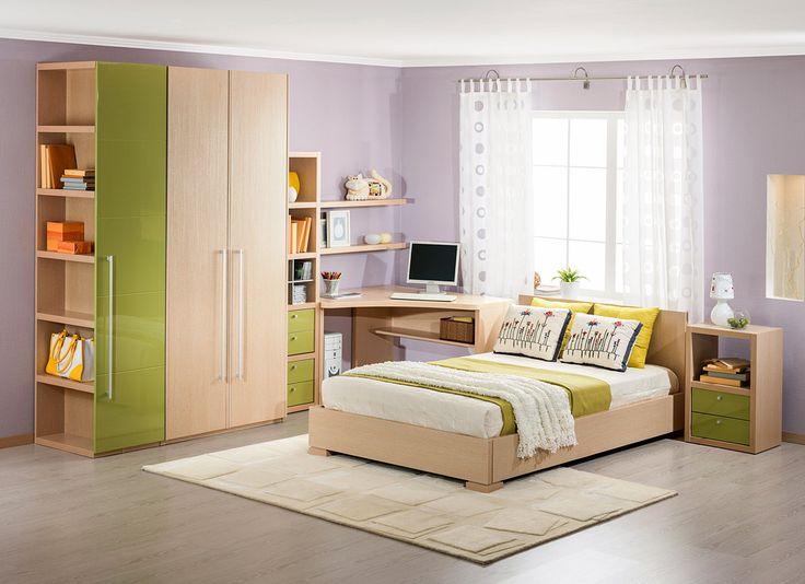 Комплект молодёжной мебели | Дизайн интерьера современной детской #астрон #мебель #astron #подростковые #детские