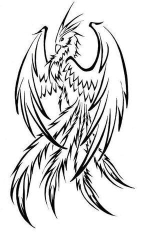 Favorite phoenix tattoo design