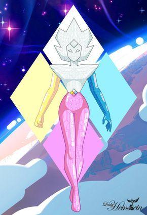 """The Diamond Ship Con el especial """"Wanted"""" de Steven Universe se nos revela que posiblemente las naves de las diamantes tengan la apariencia de un robot gigante, siendo Diamante Blanco el torso y la cabeza, Diamante Amarillo la mano derecha, Diamante..."""