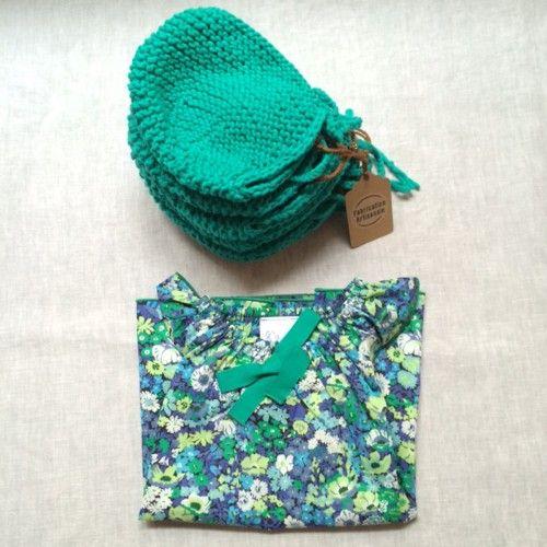 Béguins en tricot - My_Happy_Family - vert émeraude