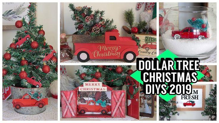 DOLLAR TREE CHRISTMAS DIYS 2019 RED TRUCK DIYS YouTube