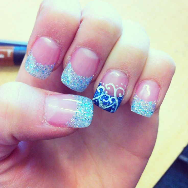 Blue Polish Nail Spa: 1000+ Ideas About Blue Gel Nails On Pinterest