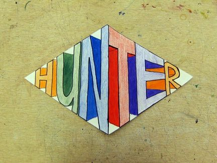 Name art projects | Elementary Art Projects / 2pt perspective name-this looks easy