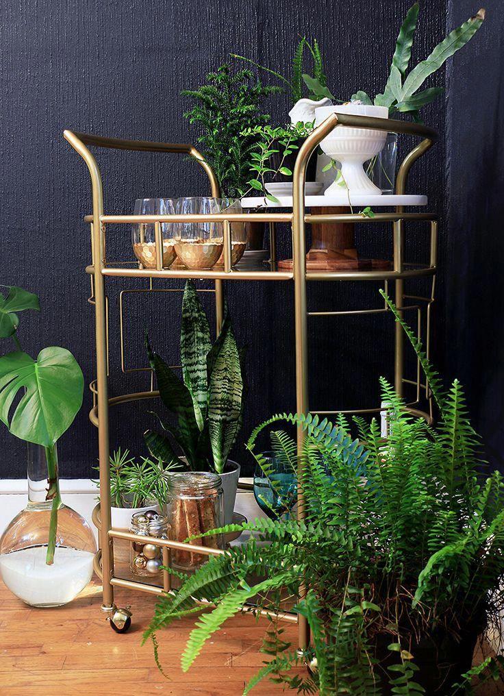 Better Homes And Gardens Fitzgerald 2 Tier Serving Cart Gold