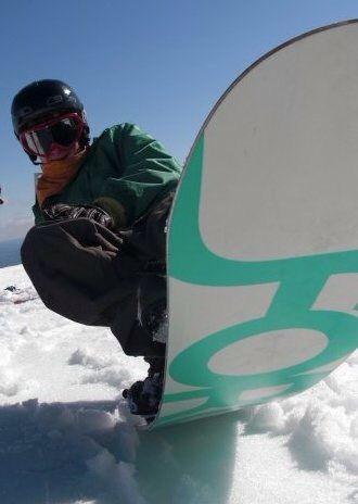 Snowboarding fun at turoa New Zealand