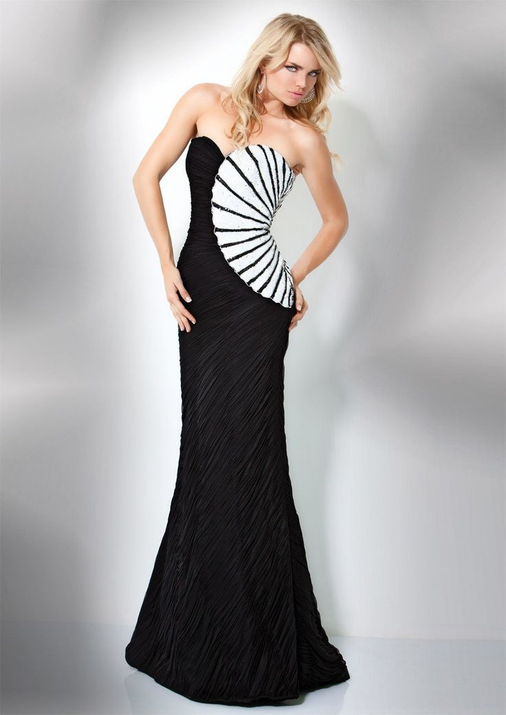 1000  ideas about White Evening Dresses on Pinterest - Black and ...