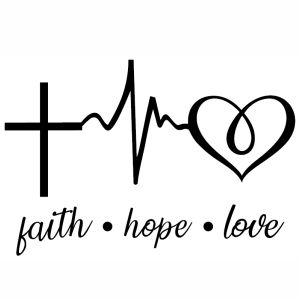 Download Faith Hope Love Heartbeat vector file, Faith Hope Love ...