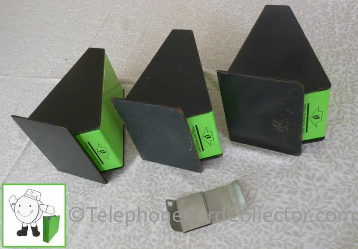 """Three BT Phonecard used bins complete with """"special tool"""" to open them (correctly)."""