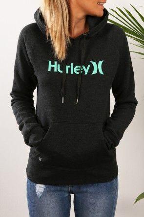 Hurley - One & Only Pop Fleece Dark Heather Grey Green Glow $69.99 Shop // http://www.jeanjail.com.au/hurley-one-only-pop-fleece-dark-heather-grey-green-glow-4.html