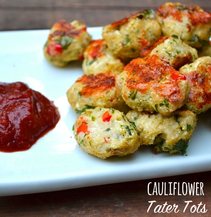 Cauliflower Tater Tots - We couldn't believe how delicious these tater tots were -- and they don't taste like cauliflower! We love the addition of jalapeno for an extra little kick. These would make a great appetizer or side dish and will be devoured in minutes.