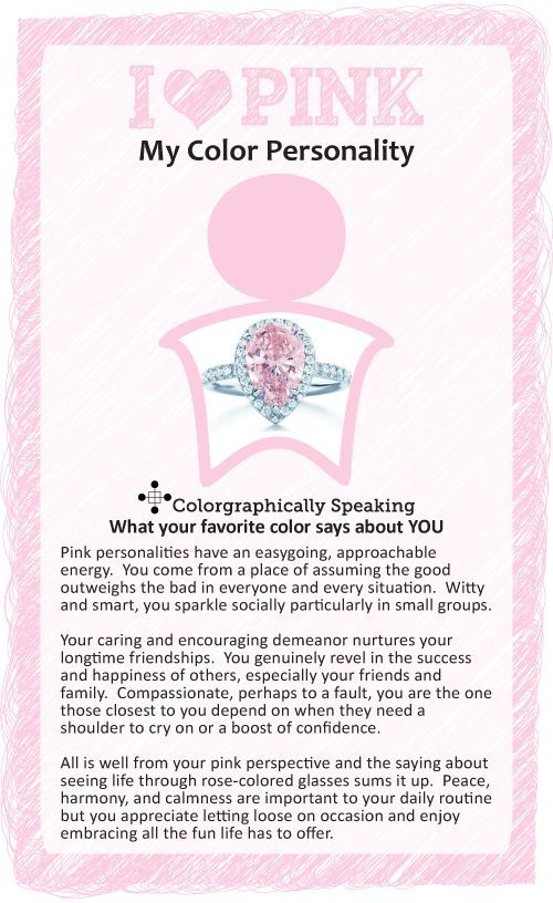Passionate about pink? Colorgraphically Speaking what your favorite color could say about your personality. #color #pink #paint color psychology: