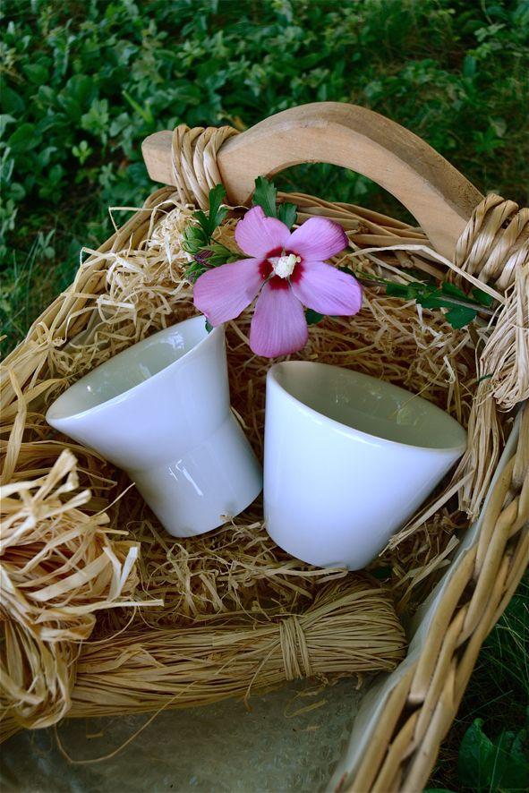 Mimì e Degustazione, originali tazze in porcellana.Senza manici!  www.ancap.it