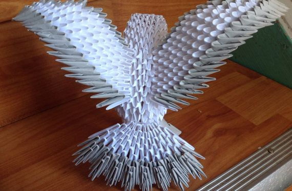 Bird Dove Pigeon 3D Origami Engagement by OrigamiPhiLong on Etsy