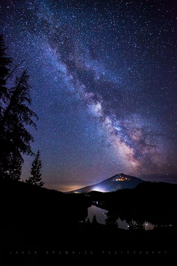 Milky Way over Todd Lake Basin, Oregon Here in the midst of our northern winter, a beautiful shot of the summer Milky Way.1/18/15 Photo by Jason Brownlee.