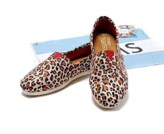 Snow Leopard TOMS Womens Vegan Classtics Shoes
