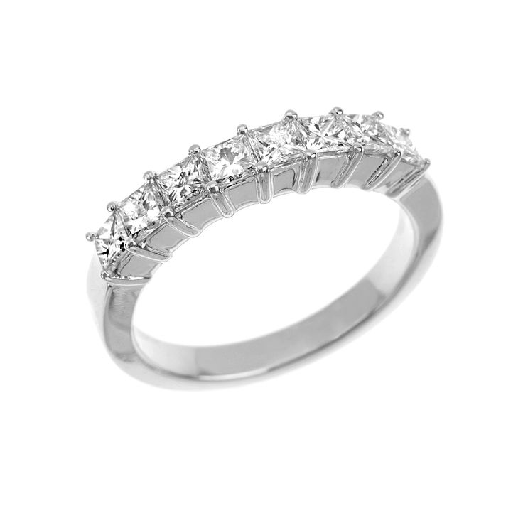 Angara Graduated Princess-Cut Diamond Five Stone Wedding Band b1lUai6