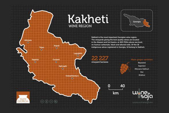 Kakheti wine region infoposter