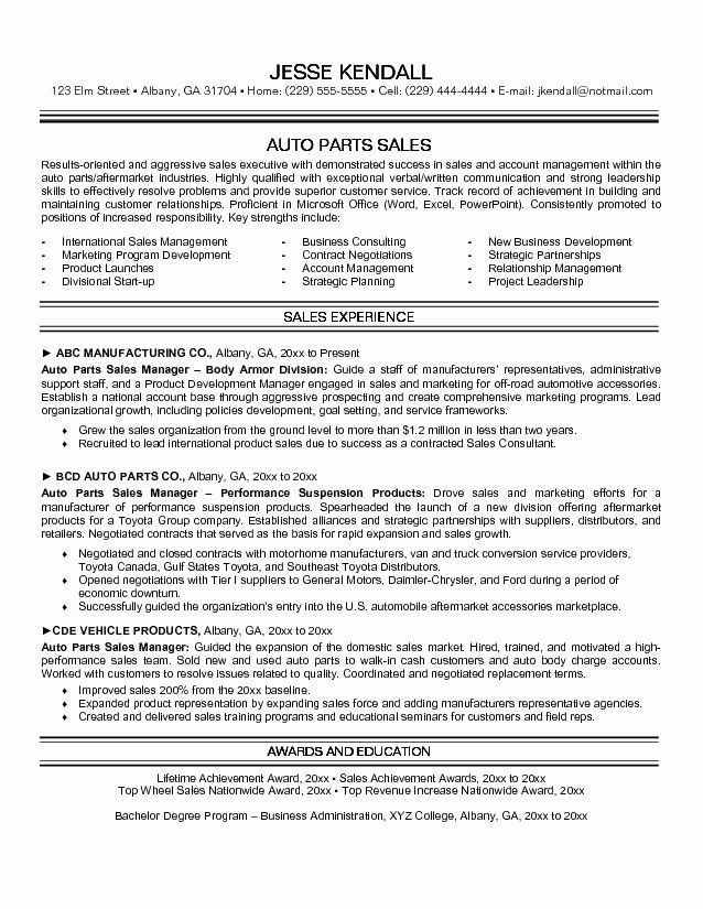 Luxury Auto Sales Resume Resume Ideas Resume Examples Business Resume Template Resume Objective Examples