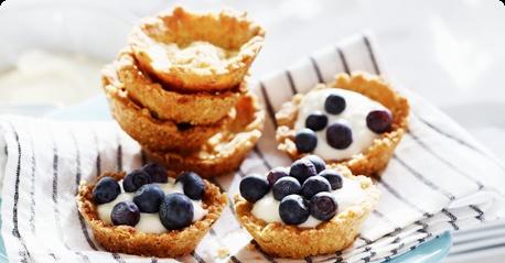 Cute little blueberry tartelets