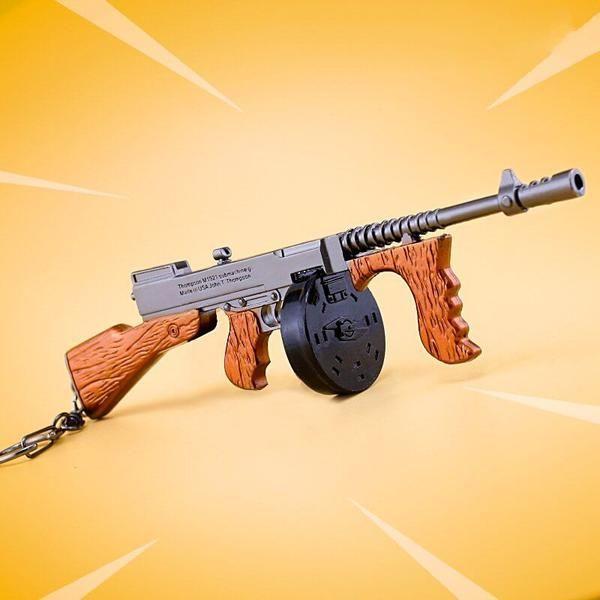Fortnite Battle Royale Drum Gun Weapon Keychain Accessory
