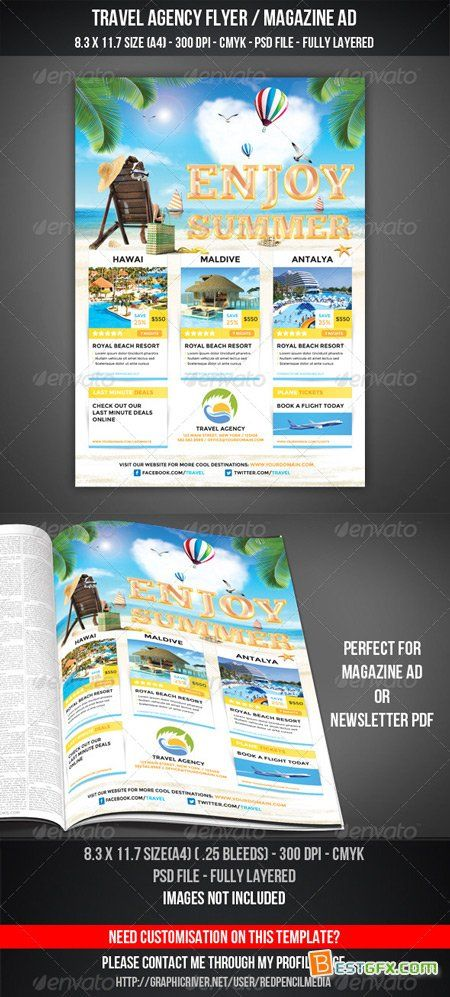 GraphicRiver Travel Agency Flyer Magazine Ad