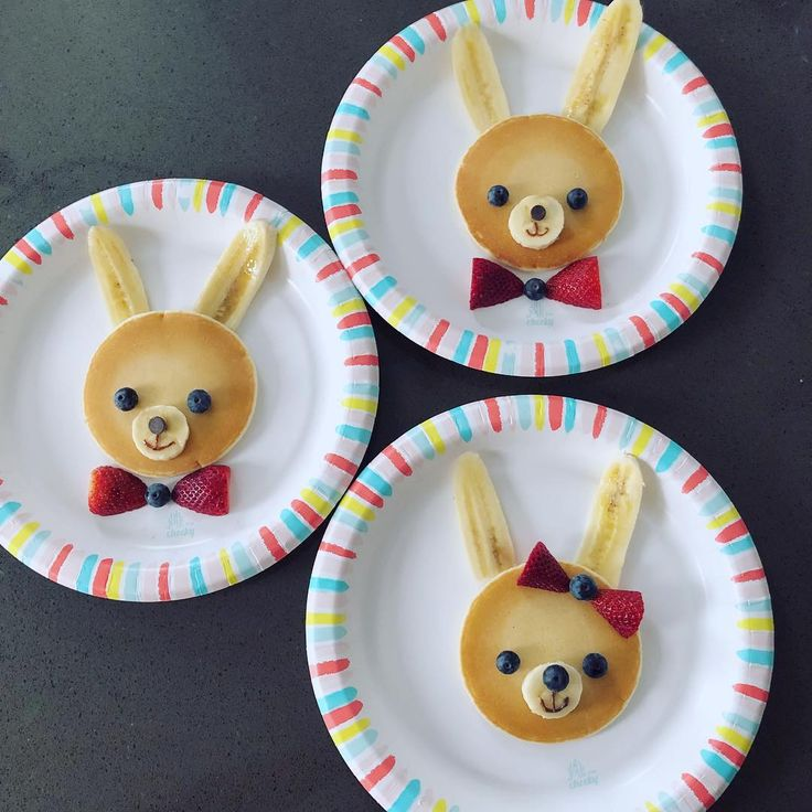 Hoppy Easter pancakes by@howaboutcookie