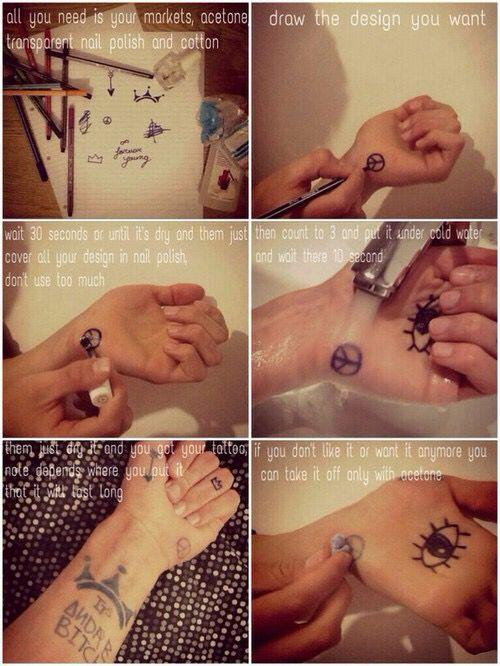 Sharpie tattoos                                                                                                                                                     More
