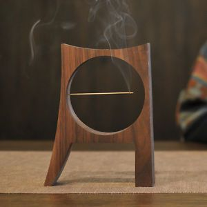 Weis Moon Aroma Wood Incense Burner Holder for Cones Sticks | eBay