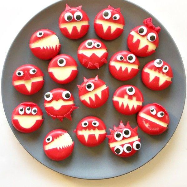 Monster-Käse: eine tolle Idee für den nächsten Kindergeburtstag. Oder als Mitgebest in den Kindergarten. Mehr