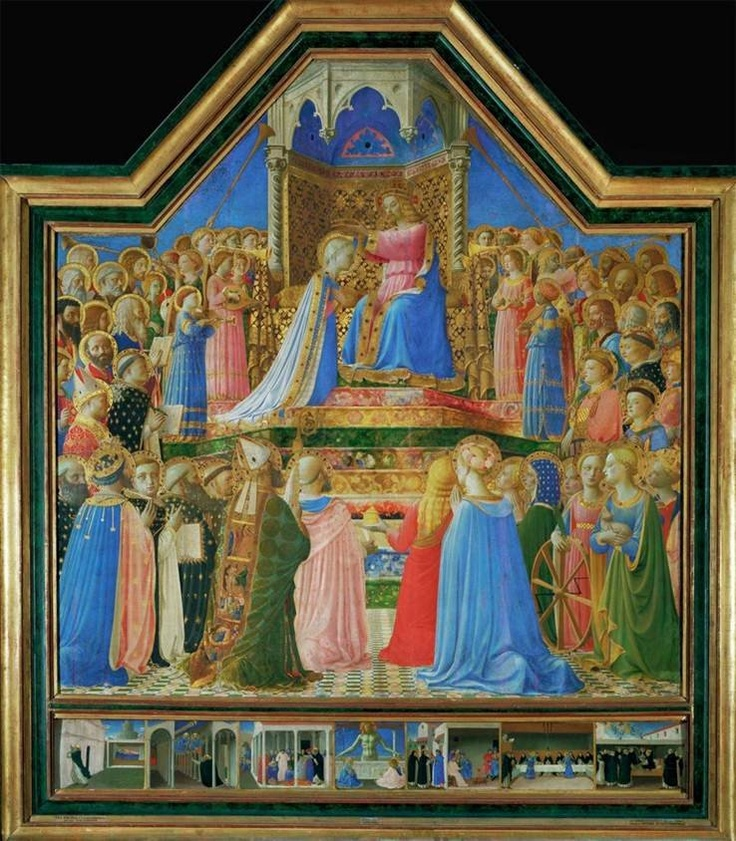 Explore this interactive image: Fra Angelico, Coronation of the Virgin by Sharon