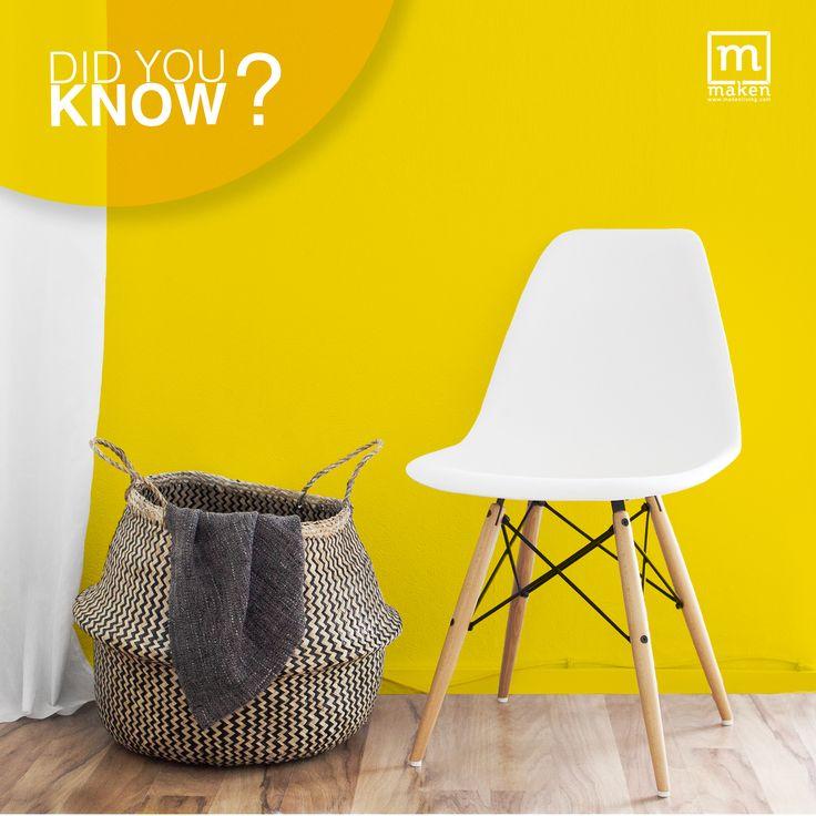 DID YOU KNOW?  Warna kuning adalah warna yang melambangkan keceriaan, selain itu warna kuning juga dapat membantu menjernihkan pikiranmu. Warna ini sangat cocok untuk kamu yang memiliki ruang koridor atau ruang bermain anak