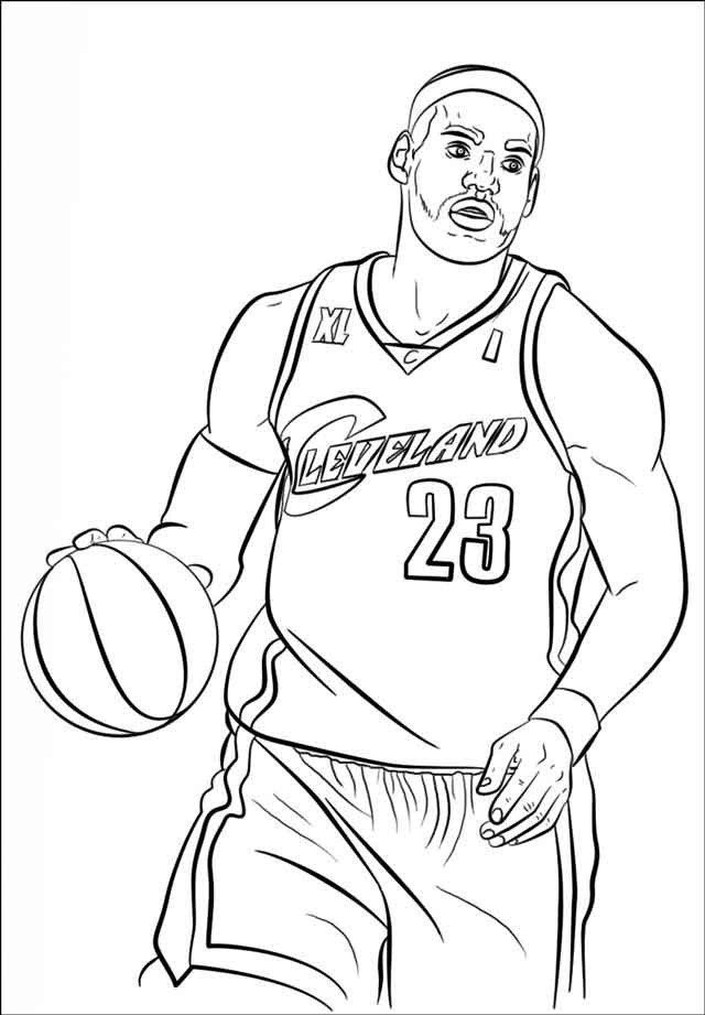 Lebron James Coloring Pages Lakers : lebron, james, coloring, pages, lakers, Printable, Coloring, Pages, Template