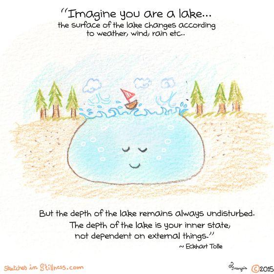 """sketchesinstillness: """" Little Lake- """""""