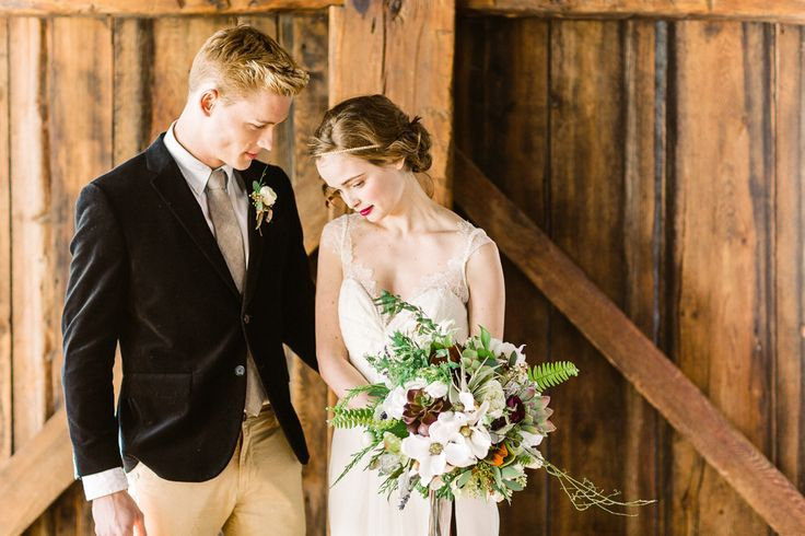 Photography : Christina Bernales Photography | Grooms Attire : Miller Bros-Newton Read More on SMP: http://www.stylemepretty.com/2014/08/22/baroquegothic-inspired-vermont-wedding-styled-shoot/