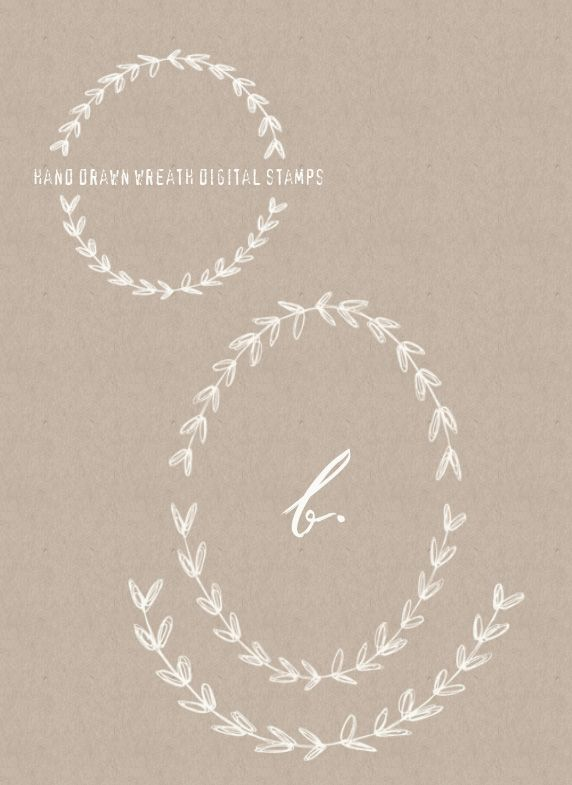 Free Downloadable Hand Drawn Wreaths courtesy of Besotted