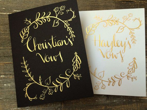 Wedding Vow Books Gold Wedding Vow Books by Noteworthydesignsco