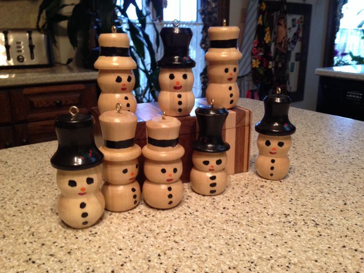 47 Best Images About Wood Turned Snowmen On Pinterest