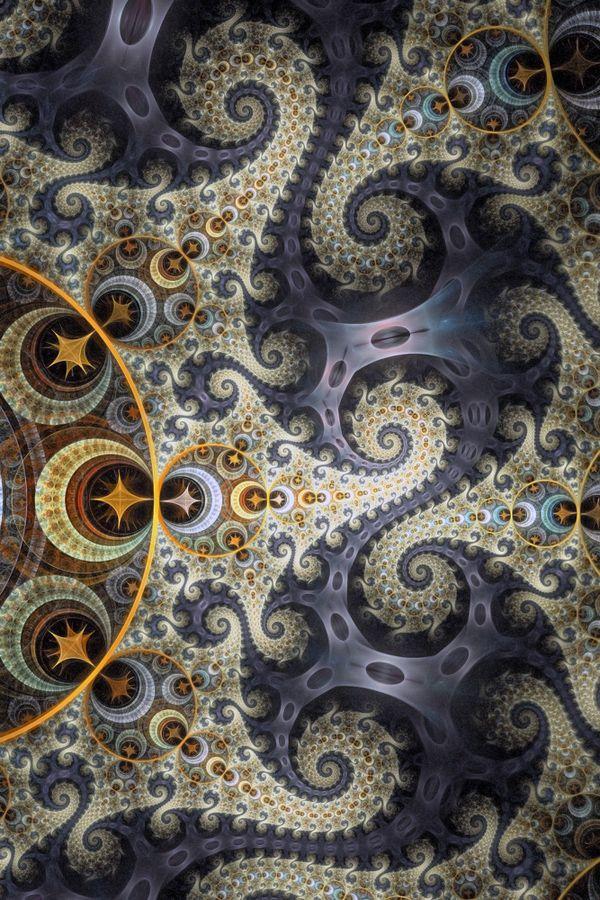 Many spirals dancing together.