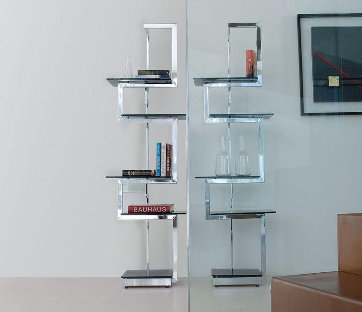Libreria a giorno autoportante bifacciale in metallo design HERITAGE   Libreria design - ITALY DREAM DESIGN