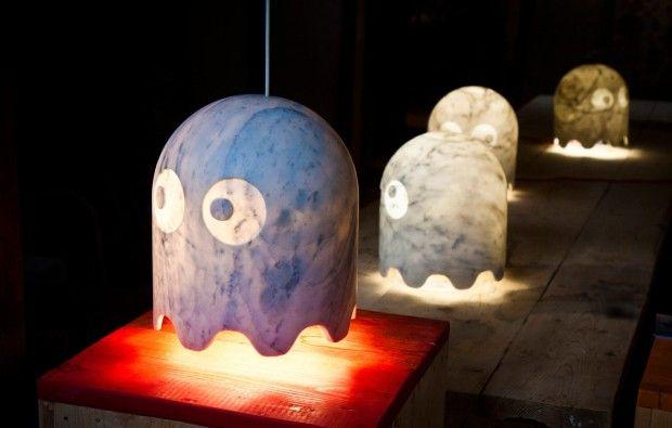 Fantasmi in marcia, les fantômes Pac-Man transformés en lampes par Chicco Chiari - Journal du Design