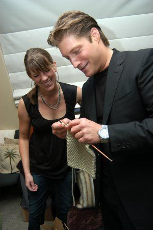 """Sean Kanan  (The Bold and The Beautiful)  """"Are you knitting? That's HOT!"""""""