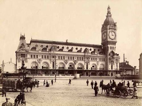 photographie historique de la gare de lyon à paris au XIX e siecle