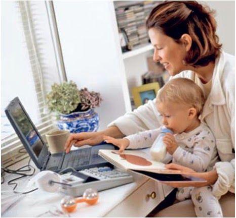 Порядок в доме - гармония в семье: Времяпрепровождение с ребенком, если мама работает дома.