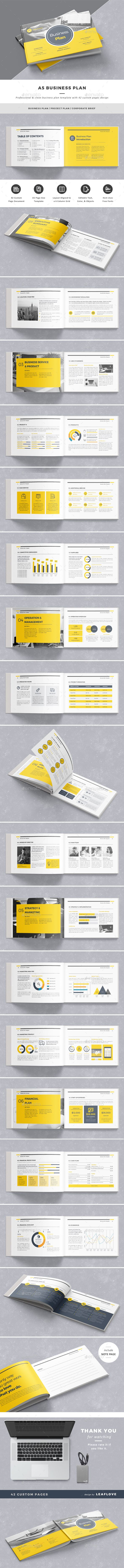 The Best Business Plan Layout Ideas On Pinterest Simple - Indesign business plan template