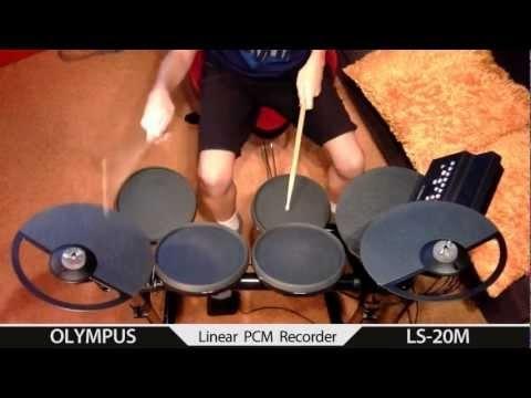 Igor Falecki - Yamaha DTX 400 test olympus LS 20 M (10 y old)
