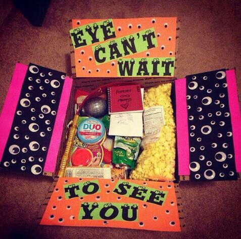 Eye cant wait to see you care package...dont know if it's cute or creepy.