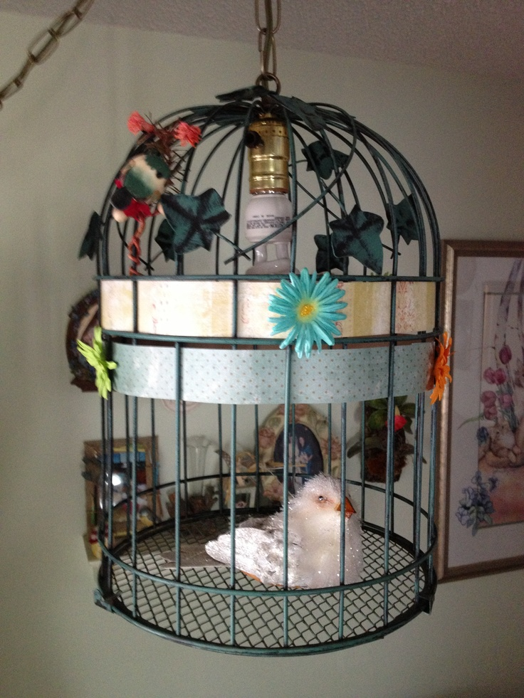 17 Best images about Bird Cage Lamp on Pinterest Lamp cover, Hanging lights and Cute birds