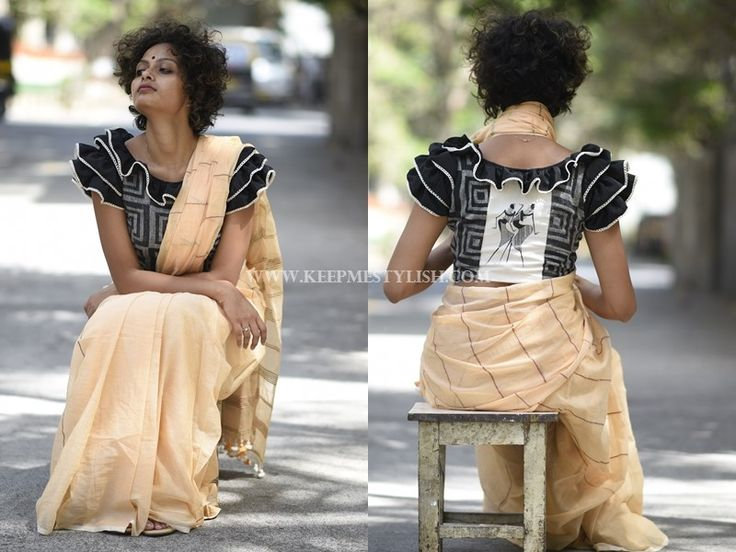 how to wear a saree simply