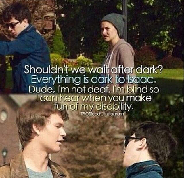 Should we wait until it gets dark?  Everything is dark to Isaac Dude I'm blind not deaf so I can hear when you make fun of my disability and I don't love it. LOL!!!!!!!